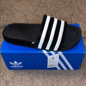 Adidas suede limited slides